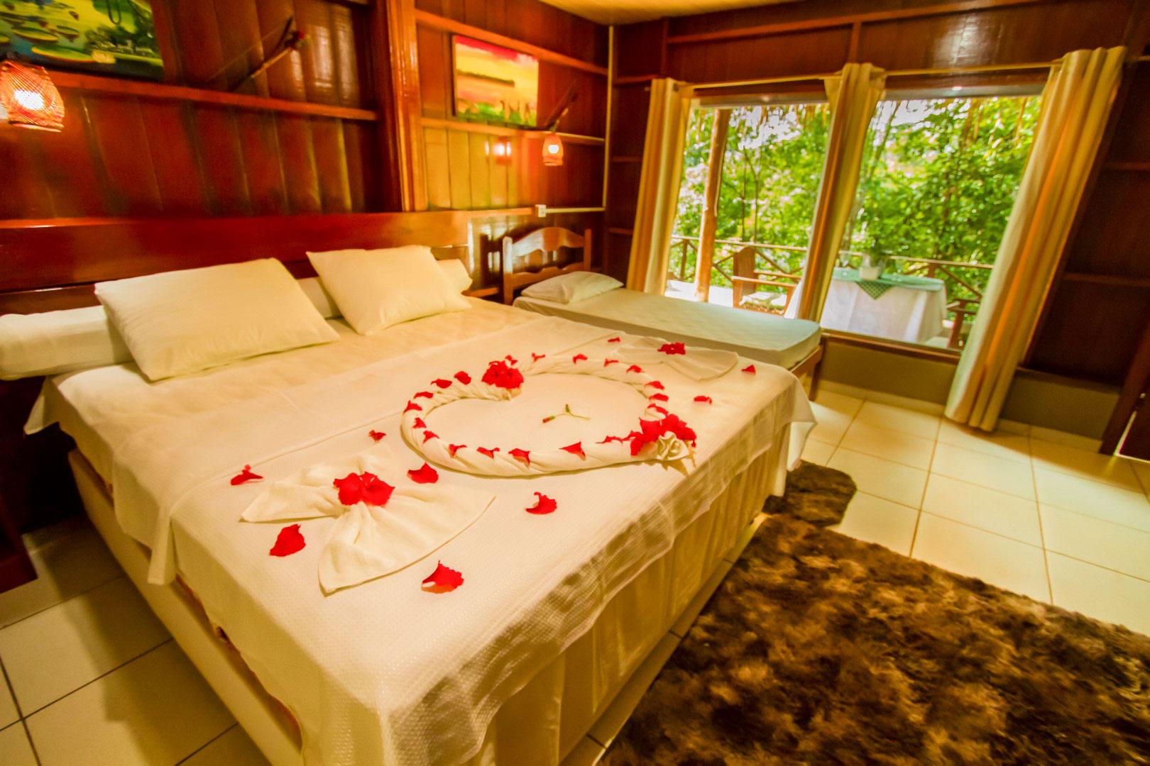 bangalô superior no hotel de selva na Amazônia
